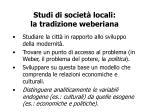 studi di societ locali la tradizione weberiana