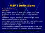 msf d finitions21