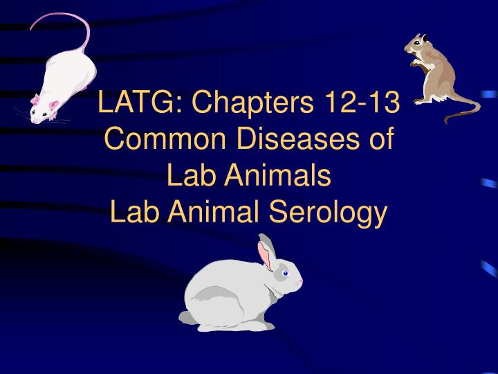 Latg chapters 12 13 common diseases of lab animals lab animal serology