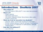 introduction onenote 2007