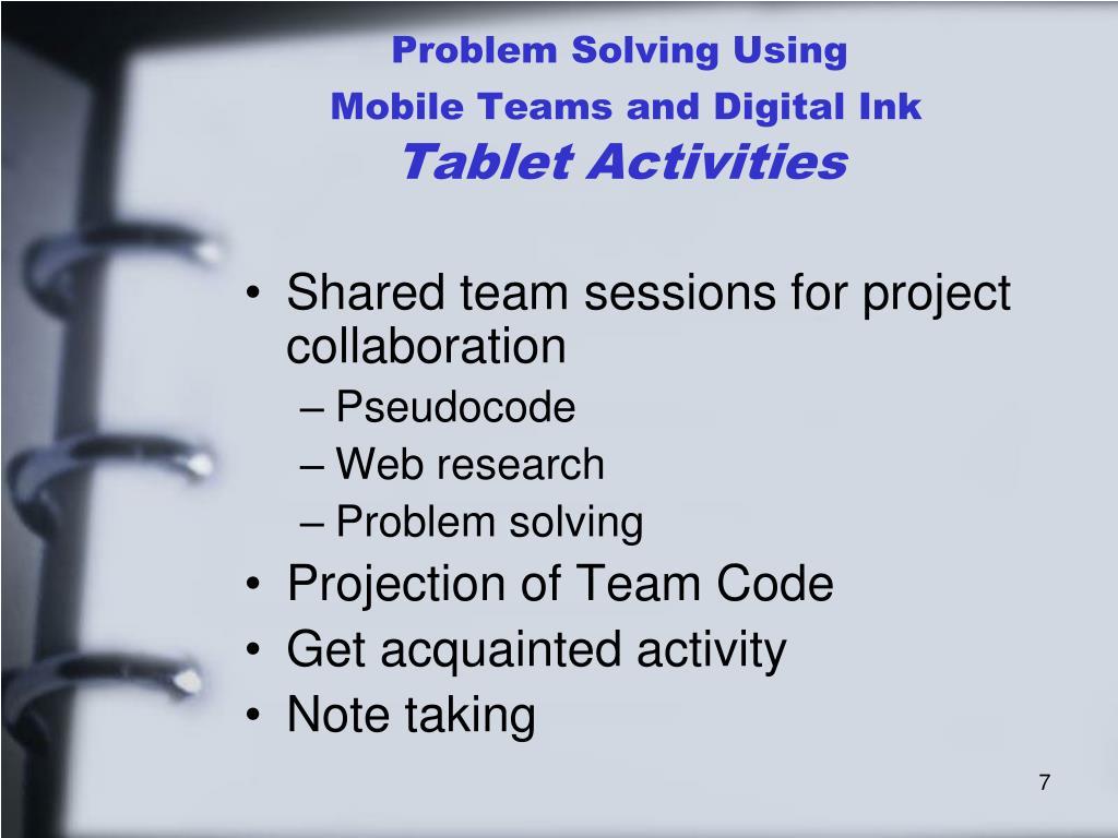 Problem Solving Using