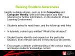 raising student awareness