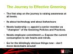 the journey to effective greening