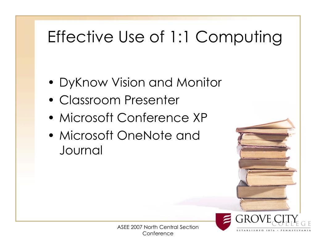 Effective Use of 1:1 Computing