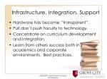 infrastructure integration support