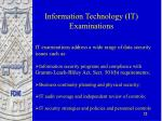 information technology it examinations