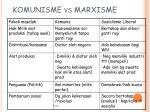 komunisme vs marxisme