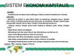 sistem ekonomi kapitalis