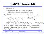 nmos linear i v