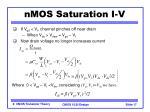 nmos saturation i v