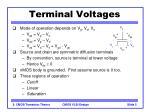 terminal voltages