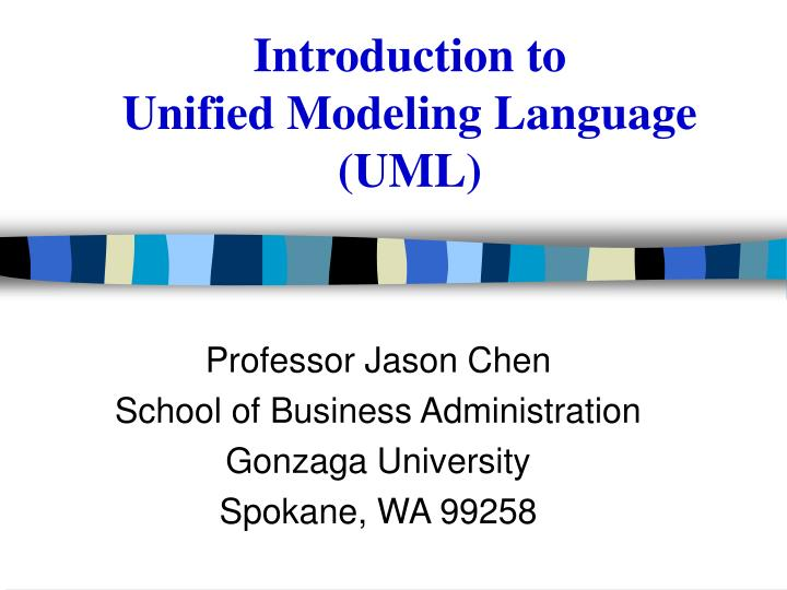 introduction to unified modeling language uml n.