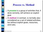 process vs method