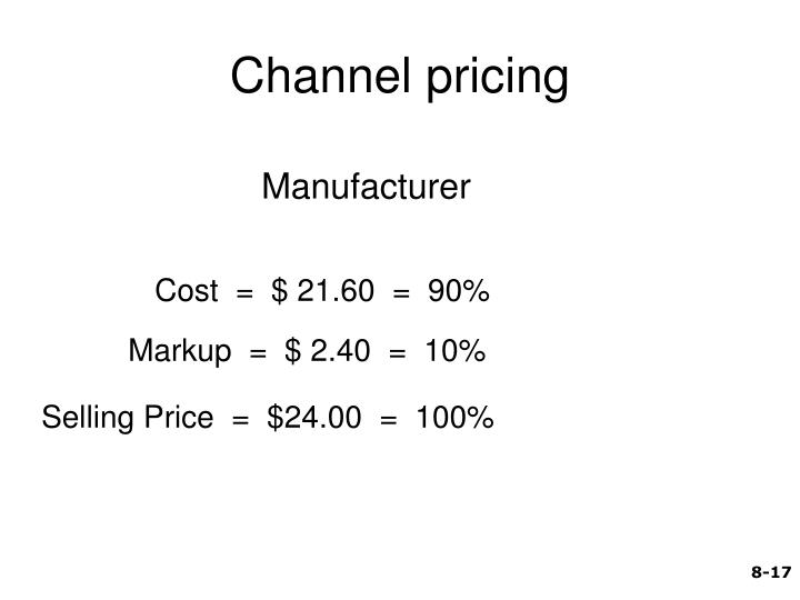 Channel pricing