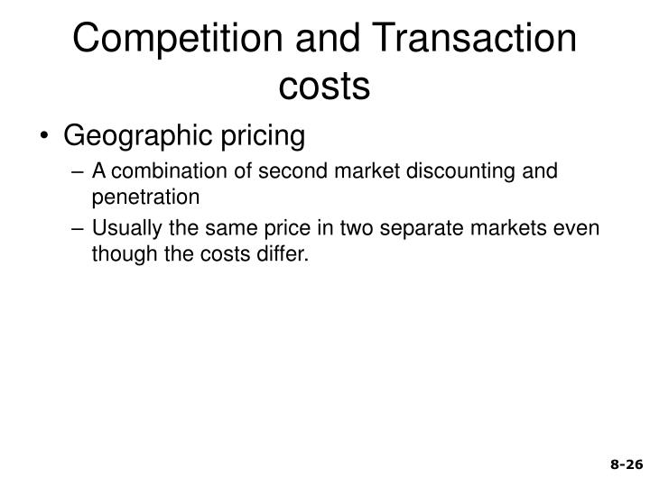 Competition and Transaction costs