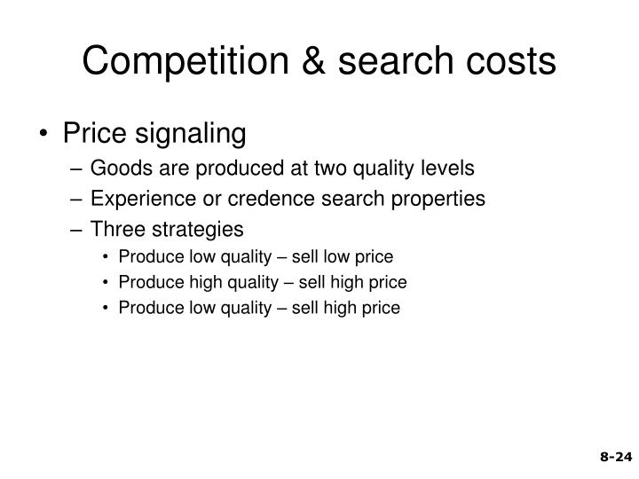 Competition & search costs