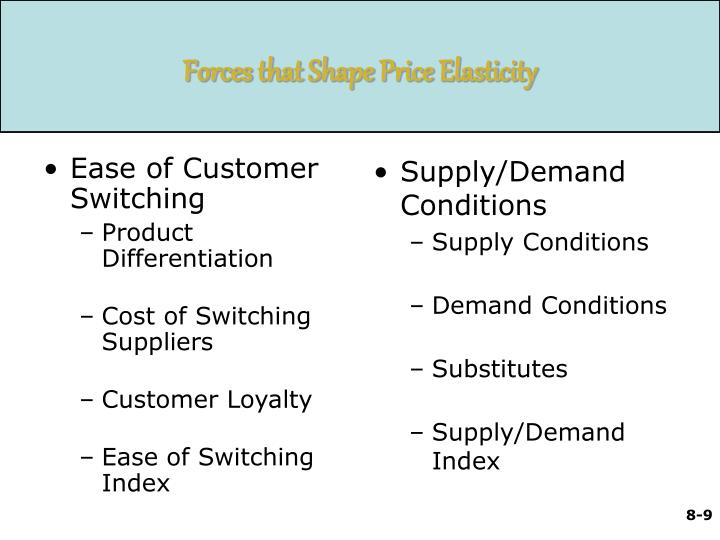 Ease of Customer Switching