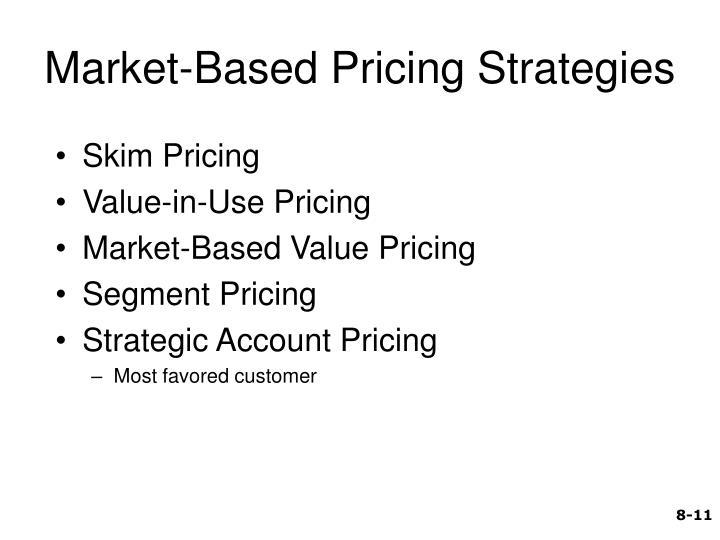 Market-Based Pricing Strategies