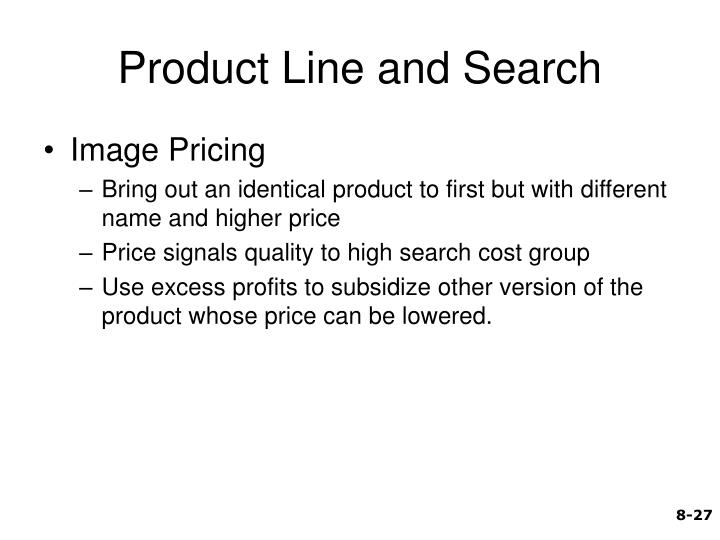 Product Line and Search
