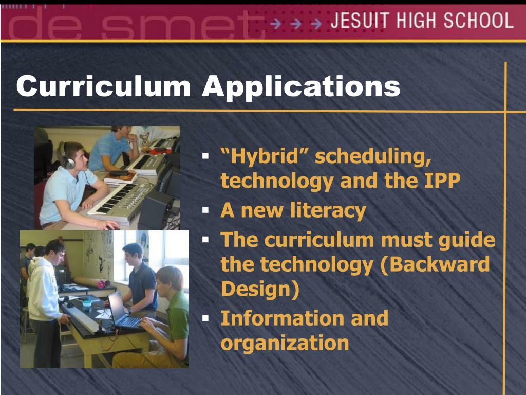 Curriculum Applications