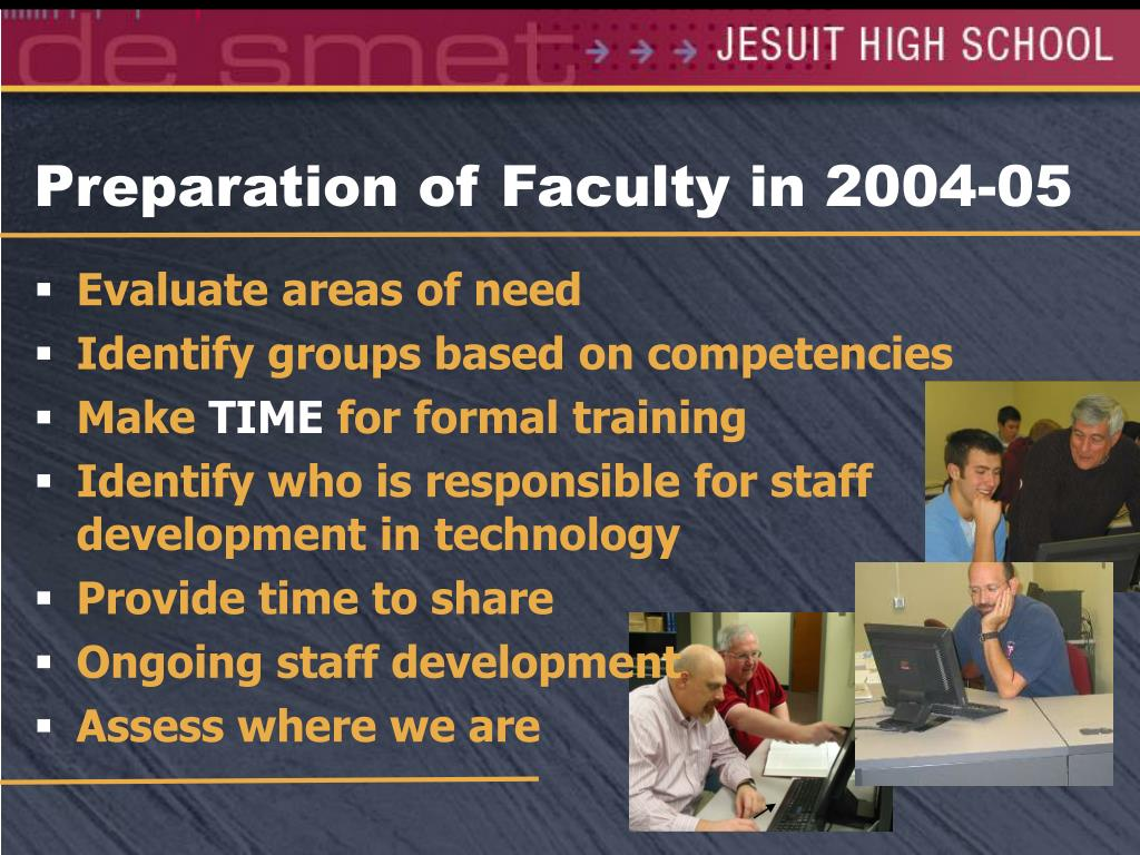 Preparation of Faculty in 2004-05