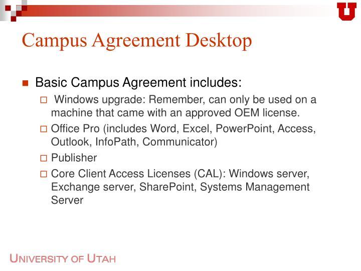 Campus agreement desktop