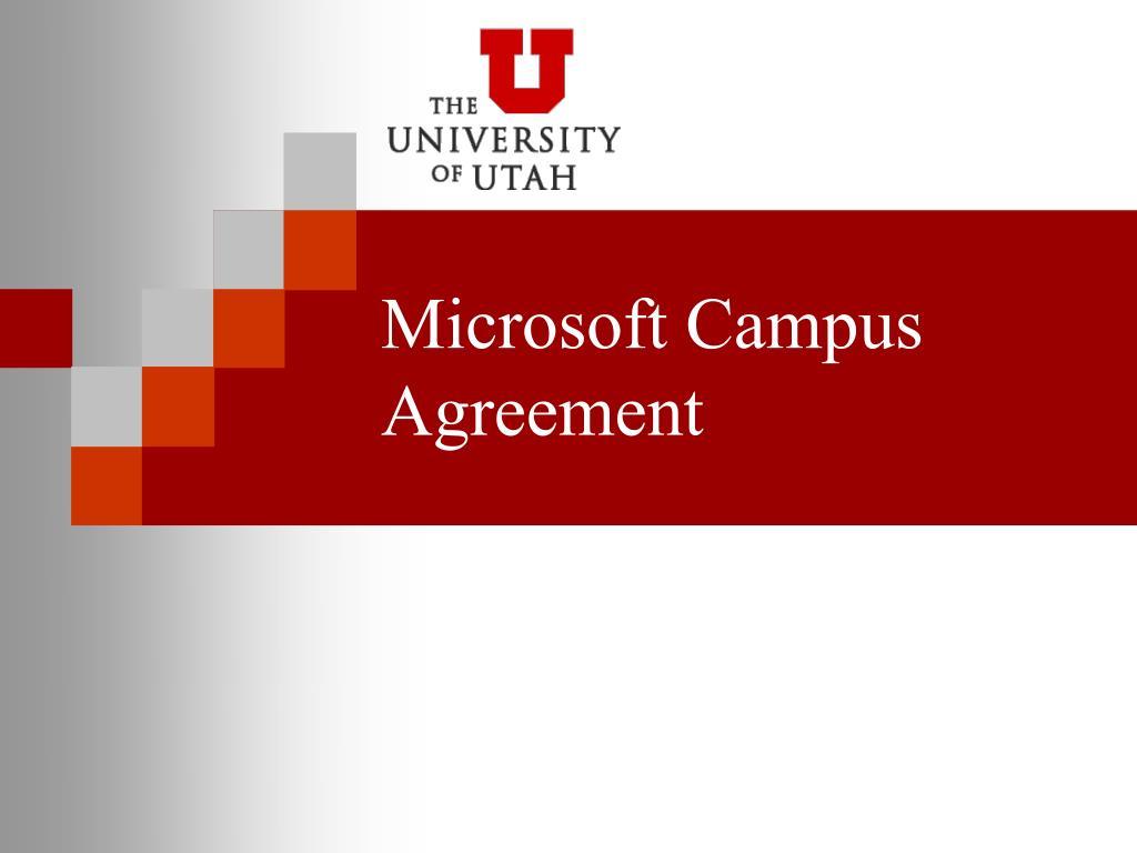 microsoft campus agreement l.