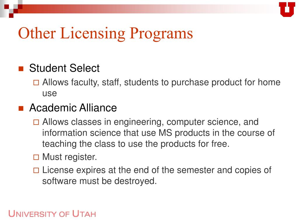 Other Licensing Programs