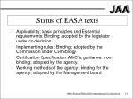 status of easa texts