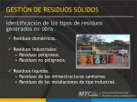 identificaci n de los tipos de residuos generados en obra