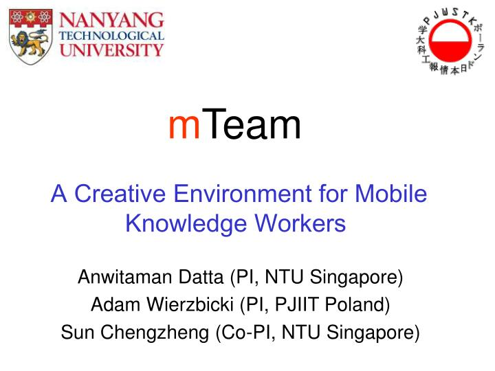 a creative environment for mobile knowledge workers n.