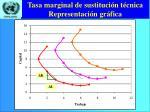 tasa marginal de sustituci n t cnica representaci n gr fica
