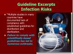 guideline excerpts infection risks