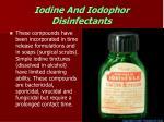 iodine and iodophor disinfectants