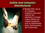 iodine and iodophor disinfectants49