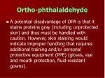ortho phthalaldehyde60