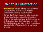 what is disinfection