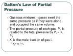dalton s law of partial pressure