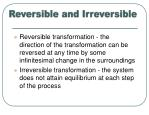 reversible and irreversible