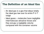 the definition of an ideal gas