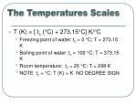 the temperatures scales