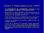 ad hoc 3 vidal abarca et al 19971