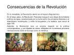 consecuencias de la revoluci n