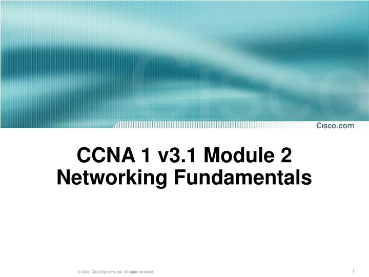 ccna 1 v3 1 module 2 networking fundamentals n.
