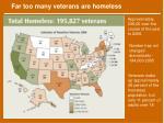 far too many veterans are homeless