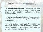 val sistema le dimensioni decisionali 1