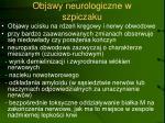 objawy neurologiczne w szpiczaku