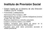 instituto de previsi n social