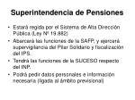 superintendencia de pensiones