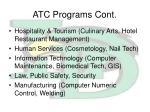 atc programs cont